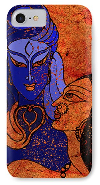 Shiva And Shakti Phone Case by Sonali Chaudhari
