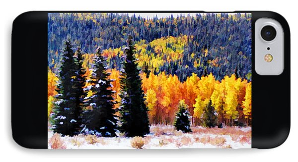 IPhone Case featuring the photograph Shivering Pines In Autumn by Diane Alexander