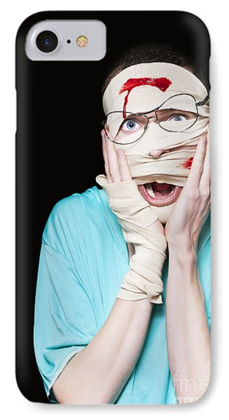 Shocked Patient Nursing A Broken And Bloody Head IPhone Case by Jorgo Photography - Wall Art Gallery