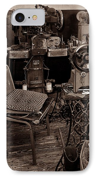 Shoe Hospital - Sepia Phone Case by Christopher Holmes