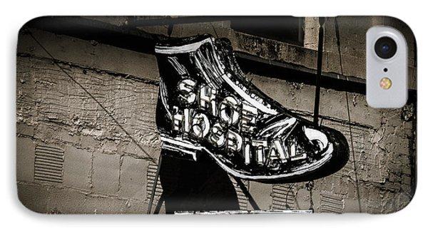 Shoe Hospital Phone Case by Phillip Burrow