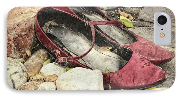 Shoes At The Makeshift Memorial IPhone Case by Joan Carroll