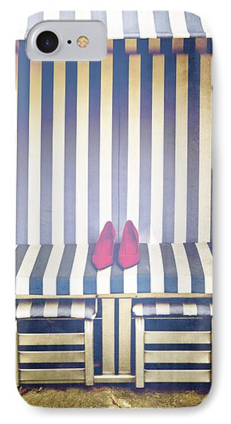 Shoes In A Beach Chair Phone Case by Joana Kruse