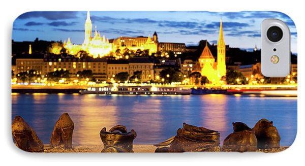 IPhone Case featuring the photograph Shoes On The Danube Bank by Fabrizio Troiani