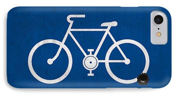 Shooting Blue Bike IPhone Case
