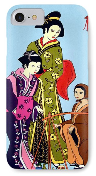 IPhone Case featuring the painting Shopping by Stephanie Moore