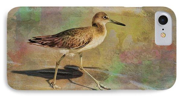 IPhone Case featuring the painting Shore Bird Beauty by Deborah Benoit