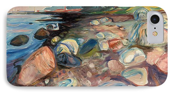 Shore With Red House IPhone Case by Edvard Munch
