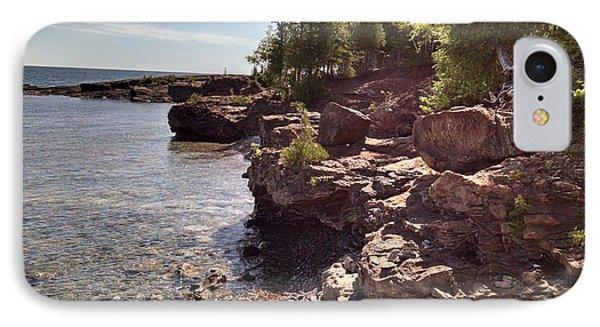 Shoreline In The Upper Michigan IPhone Case by Alan Casadei