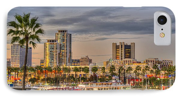 Shoreline Village Rainbow Harbor Marina IPhone Case by David Zanzinger