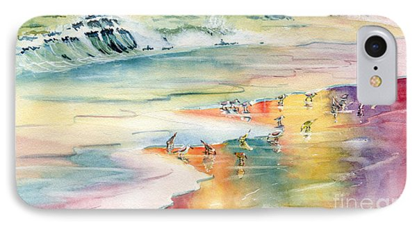 Shoreline Watercolor IPhone Case by Melly Terpening