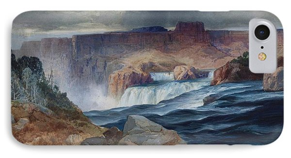 Shoshone Falls Idaho Phone Case by Thomas Moran