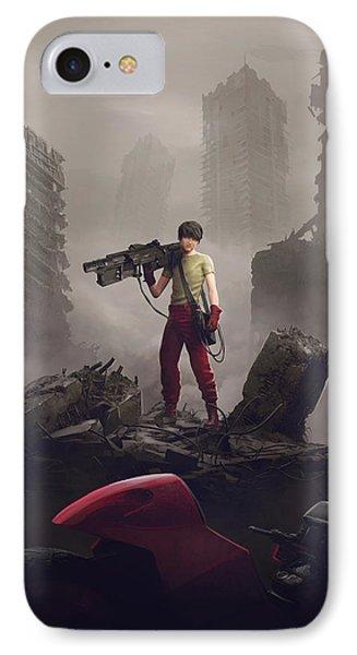 Shotaro Kaneda IPhone Case by Guillem H Pongiluppi