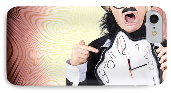 Shouting Businessman Stressed From Rush Hour Phone Case by Jorgo Photography - Wall Art Gallery