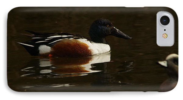 IPhone Case featuring the photograph Shovel Tail And A Wigeon by Jeff Swan
