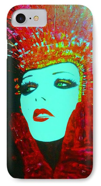 Show Girl Dolly IPhone Case by Frederick Lyle Morris