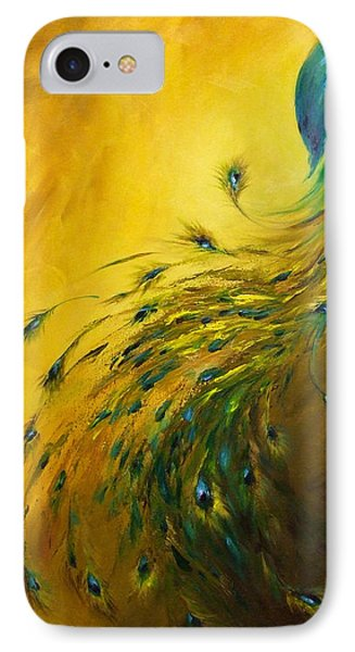 Show Off 1 Vertical Peacock IPhone Case by Dina Dargo