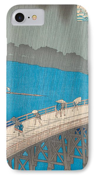 Shower Over Ohashi Bridge IPhone Case by Hiroshige
