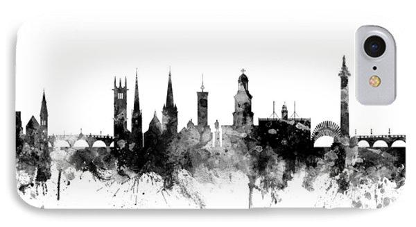 Shrewsbury England Skyline IPhone Case by Michael Tompsett