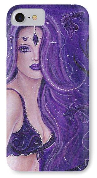 Shreya Purple Mermaid IPhone Case by Renee Lavoie