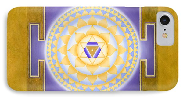Shri Saraswati Yantra IPhone Case by Piitaa - Sacred Art