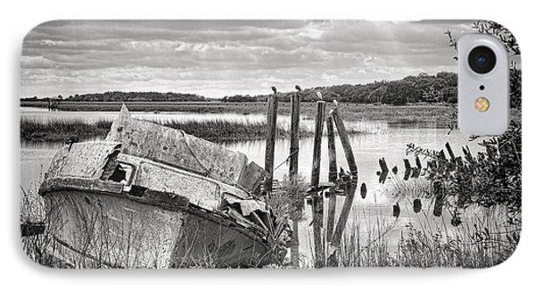 Shrimp Boat Graveyard IPhone Case by Scott Hansen