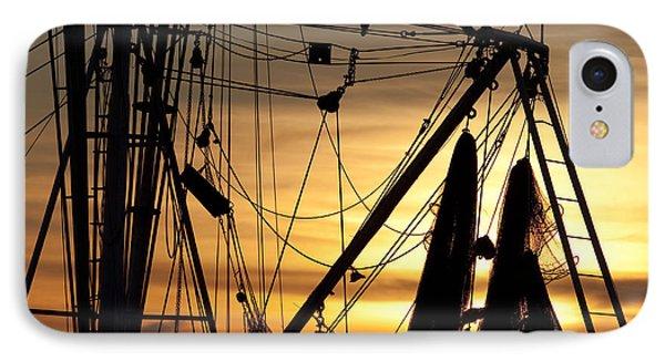 Shrimp Boat Rigging IPhone Case by Dustin K Ryan