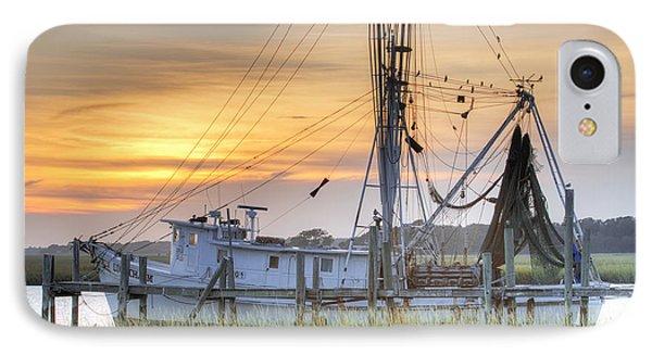 Shrimp Boat Sunset Charleston Sc IPhone Case