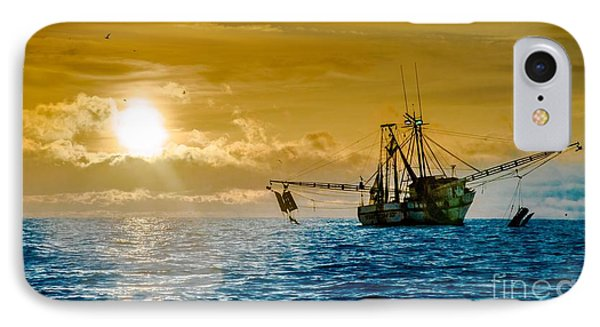 Shrimp Trawler At Dawn IPhone Case