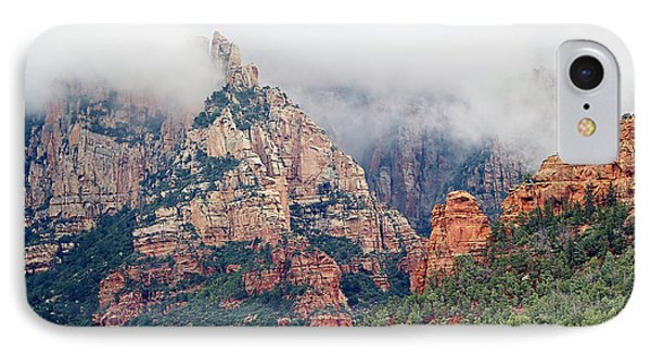 IPhone Case featuring the photograph Shrouded In Clouds by Phyllis Denton