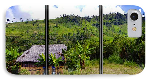 IPhone Case featuring the photograph Shuar Hut In The Amazon by Al Bourassa