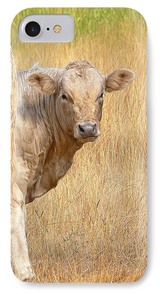 Shy White Calf Phone Case by Jennie Marie Schell