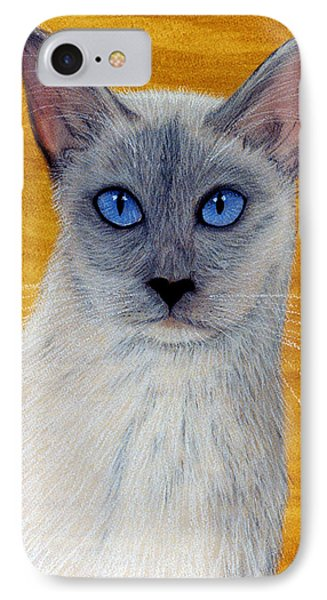 IPhone Case featuring the pastel Siam by Jan Amiss