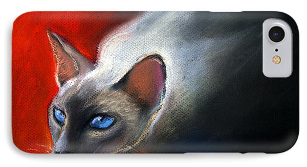 Siamese Cat 7 Painting Phone Case by Svetlana Novikova