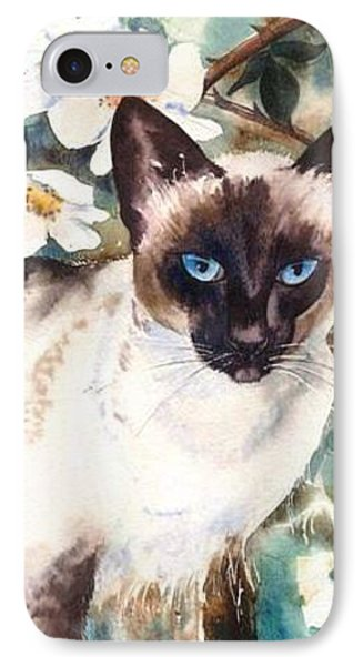 IPhone Case featuring the painting Siamese Cat by Sandra Phryce-Jones