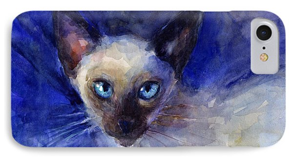 Siamese Cat  IPhone Case by Svetlana Novikova