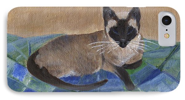 IPhone Case featuring the painting Siamese Nap by Jamie Frier