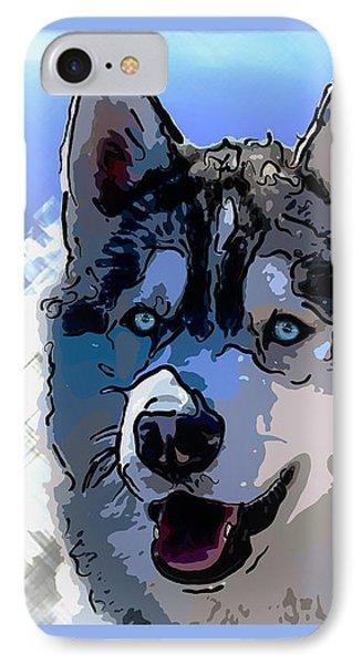 Siberian Husky IPhone Case by Alexey Bazhan