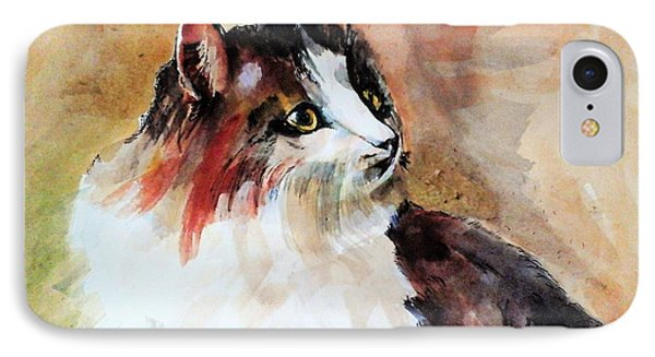 Siberian Forest Cat IPhone Case by Khalid Saeed