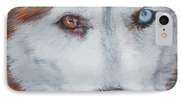Siberian Husky Red IPhone Case by Lee Ann Shepard