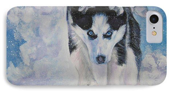 Siberian Husky Run IPhone Case by Lee Ann Shepard