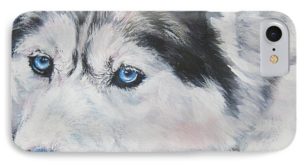 Siberian Husky Up Close IPhone Case by Lee Ann Shepard