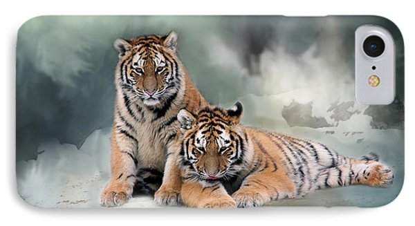 Siberian Twins IPhone Case by Inge Riis McDonald