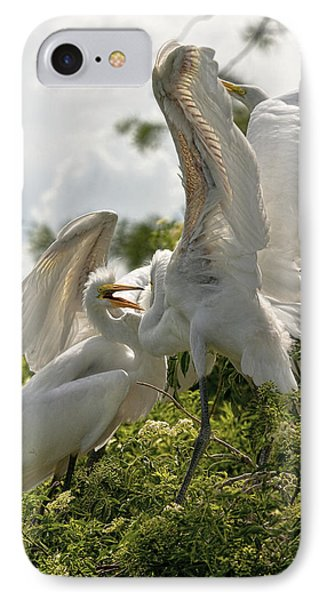 Sibling Squabble Phone Case by Christopher Holmes