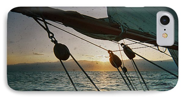 Sicily Sunset Sailing Solwaymaid IPhone Case by Dustin K Ryan