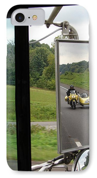 IPhone Case featuring the photograph Side Car Framed by J R   Seymour