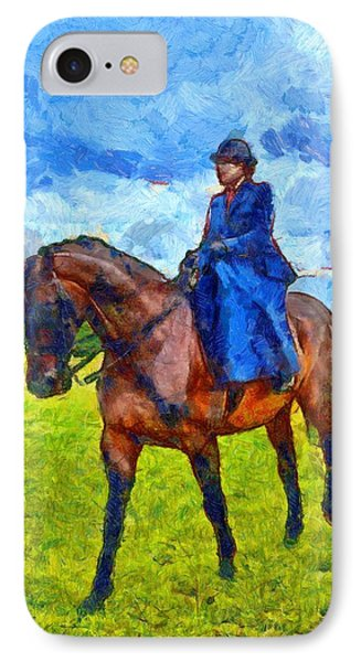 IPhone Case featuring the photograph Side Saddle by Scott Carruthers