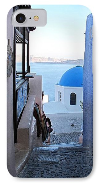Side Street Santorini IPhone Case