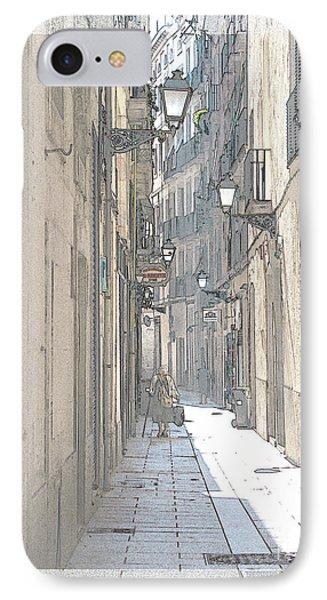 Side Street IPhone Case by Victoria Harrington