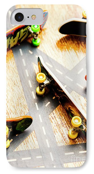 Side Streets Of Skate IPhone Case by Jorgo Photography - Wall Art Gallery